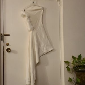 Winter white Women hooded scarf